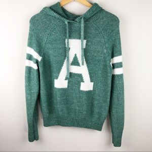 ABERCROMBIE Logo Pullover Hooded Sweater